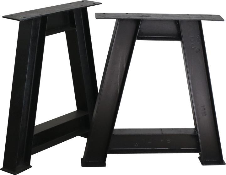 Tafel Onderstel Metaal : Tafel onderstel a frame set van 2 ijzer one world interiors lil.nl